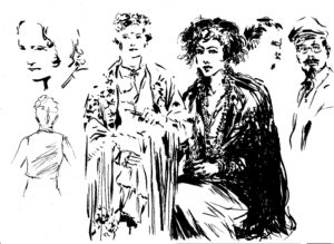 Frida Kahlo, dessin de JJ Dzialowski,