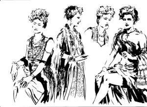 Frida Kahlo, dessins de JJ Dzialowski