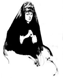Esprits et Post-Mortem, dessin de Edgar Drangiag