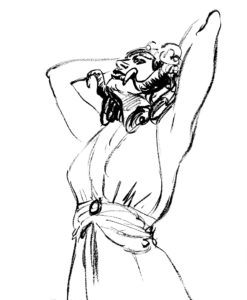 La Chasse Baroque, dessin de Edgar Drangiag