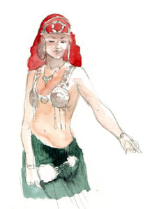 Salomé, dessin de Arthur des Pins