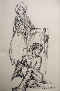 2016-04-01 Dr Sketchy – Musée Chasse et Nature – Nature fantastique (7).JPG